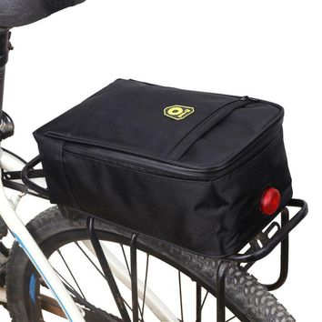 Bicycle Bike Waterproof Storage Bag Saddle Storage Tail Seat Storage Bags with Light Black Cycling Rear Pack
