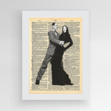 Digital Download - Adams Family - Vintage Poster - Movie Poster - Dictionary Art - Book Art
