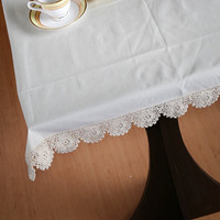 Flower Scalloped edge CROCHET TABLECLOTH - HANDMADE -Table Runner for Home Decor, Wedding, Birthdays, Bridal & Gifts.
