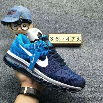 NIKE AIR MAX Fashion Sport Casual Shoes Sneakers Dark blue