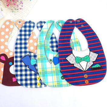 ideacherry Cartoon Newborn Baby Bibs Cotton Waterproof Babies Feeding Bib Boy Girl Feeding Bavoir Bib Infant Bebes Bandana Apron