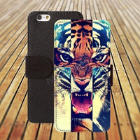 iphone 5 5s case cross tiger iphone 4/ 4s iPhone 6 6 Plus iphone 5C Wallet Case,iPhone 5 Case,Cover,Cases colorful pattern L130