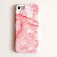 High-quality Nanometer Protect Pink Marble Cover for iPhone 7 7Plus & iPhone 6 6s Plus & iPhone 5s se Case +Gift Box-E10