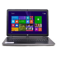 HP Pavilion 17-f247cl Fusion Quad-Core A8-6410 2.0GHz 6GB 1TB DVD±RW 17.3 LED Notebook W7HP w/Webcam (Silver) - B