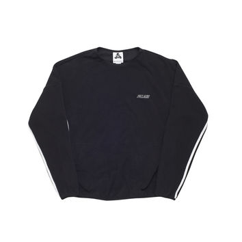 Adidas Palace Fleece Crew Neck Black/White | Palace Skateboards