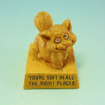 vintage cat figurine by wallace berrie co funny quote