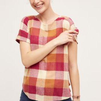 Isabella Sinclair Posy Plaid Top in Pink Size: