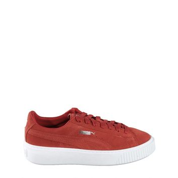 Puma Platform Women's Suede Sneakers Red