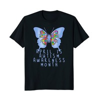 Baby Blue Butterfly for Autism Month T-shirt