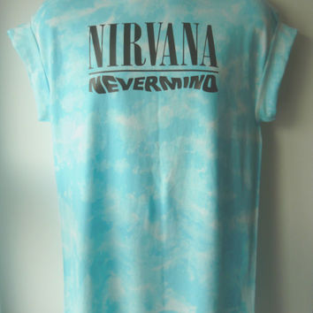 Nirvana Nevermind Acid wash T shirt Rave indie retro Old school Trash
