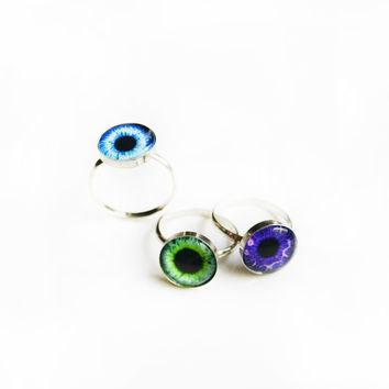 12mm Taxidermy Eye Ring