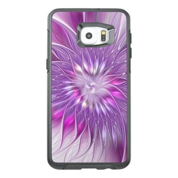 Pink Flower Passion Abstract Fractal Art OtterBox Samsung Galaxy S6 Edge Plus Case