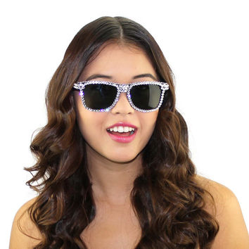 Swarovski Crystal Beaded Wayfarer style Sunglasses