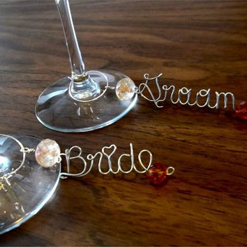 Wine/Beer Charm, wedding party, bridal shower, Personalized wine charm, Personalized Beer charm,  Wine marker, Beer marker, personalized