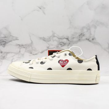 CDG Play x Converse All Star Chuck Taylor 1970s Low-Top Sneakers - Best Deal Online