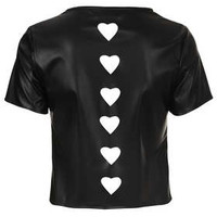 **Laser Cut PU Tee by Lashes Edit - New In This Week  - New In