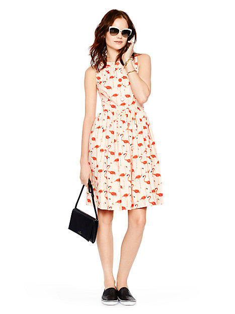 22b2c432b97f Kate Spade Flamingo Fit And Flare Dress from kate spade new york