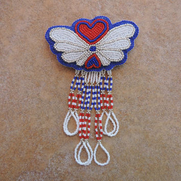 Hearts and Wings Hair Barrette