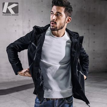 Autumn Winter Men's Coat Faux Suede Jacket Casual Clothing Outerwear