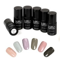 6 pc Nude UV LED Nail Gel Polish Design Professional Color (Oasis) Collection Set
