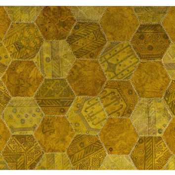 Honeycomb Rug, Gold, Area Rugs