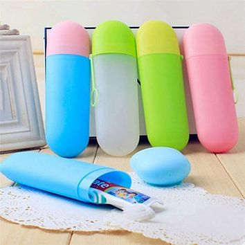 New Nice Travel Portable Toothbrussh Box Toothpaste Box Creative Traveling Toothbrush Storage Box