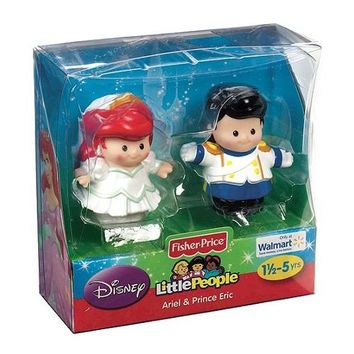 Fisher-Price Little People Disney Princess Wedding Figures [Ariel & Eric]