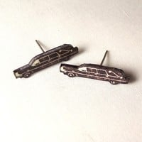 Hearse Stud Earrings by jackiehatesyou on Etsy