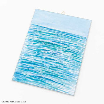 Ocean wall art-ocean canvas board-ocean acrylic wall art-beach wall art-coastal decor-coastal wall art-holiday gift-by NATURA PICTA-CB030