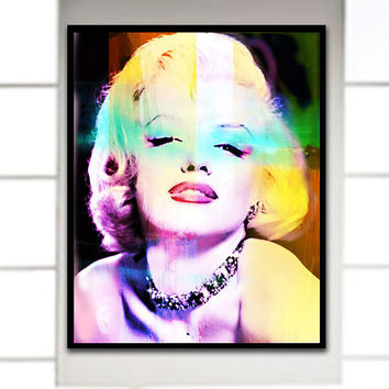 Marilyn Monroe, Large Art Poster, Retro Art, Hollywood Art, Large Wall Art, Marilyn Monroe Home Decor