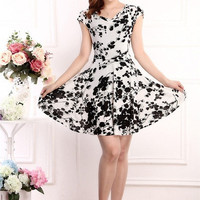 2015 New Arrival Cotton Dress Fashion Summer Style Dress Cheap Clothes China Plus Size Women Clothing Summer Dress = 1945963972