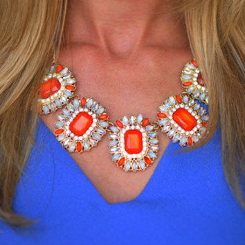 Stop And Stare Necklace: Tomato   Hope's