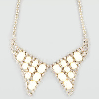 Full Tilt Rhinestone Bead Bowtie Necklace Gold One Size For Women 20760462101