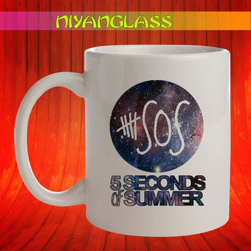 5 seconds of summer galaxy nebula mug, 5 second of summer cup, 5 seconds of summer mugs,  personalized cup, funny mugs, birthday ceramic mug