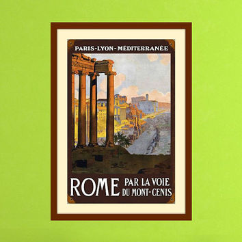 Roman Art, Rome Art, Rome Print, Ancient Rome, Classic Art, Vintage Print, European Art, Vintage Wall Art, Italian Art, Home Wall Decor