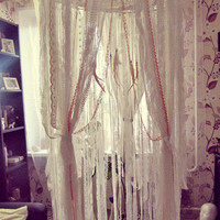 Boho Bed Crown - Baby Crib Canopy - Gypsy Nursery Decor - Dreamcatcher Canopy - Bohemian Bedroom - Made to Order
