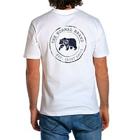 Vintage Circle Back Tee in White by The Normal Brand - FINAL SALE