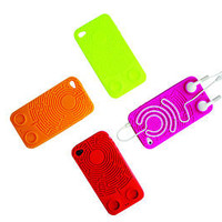 Wisdomaze Protective Silicone Case iPhone 4 - 4s / Headphone Tidy Maze / Fun