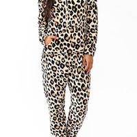 Leopard Hooded Onesuit
