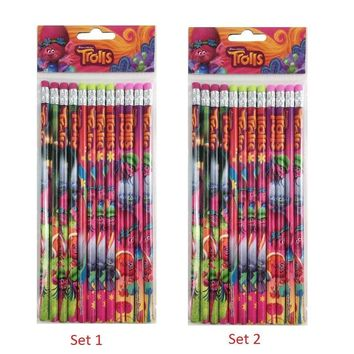 24 Pcs Trolls Wood Pencils Birthday Party Favors Bag Fillers - 2 DZ