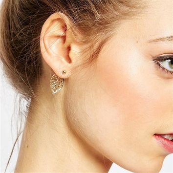 Leaf Stylish Hollow Out Earrings [132683956244]