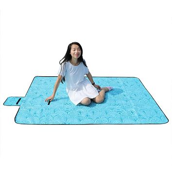 "59*79"" Large Waterproof Picnic Blanket Outdoor Fleece Beach Camping Blanket Mat"