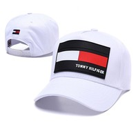 TOMMY HILFIGER Popular Women Men Sports Sun Hat Baseball Cap Hat White