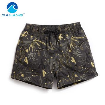 Gailang Brand Men Beach Shorts Boxer Trunks Board Shorts Casual Bermuda Men's Swimwear Swimsuits 2017 New Fashion Quick Drying