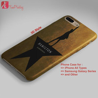 Hamilton Broadway Musical - Personalized iPhone 7 Case, iPhone 6/6S Plus, 5 5S SE, 7S Plus, Samsung Galaxy S5 S6 S7 S8 Case, and Other