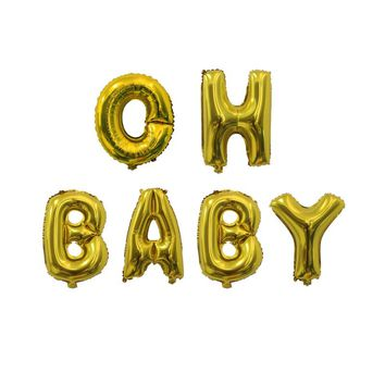 oh baby its a boy its a girl balloons  baby shower decorations boy girl shower banner  Gender Reveal gold silver letter balloon