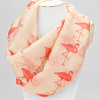 Ivory Swan infinity Spring Scarf
