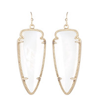 Kendra Scott Skylar White Mother of Pearl Earrings 14K Gold Plated