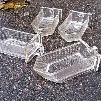 Vintage glass Container, Kitchen cabinet, flour sugar cereals glass drawers Home Living Kitchen Dining Kitchen Storage housewares MyWealth