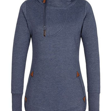 Zip Up Hooded Long Sleeve Hoodie